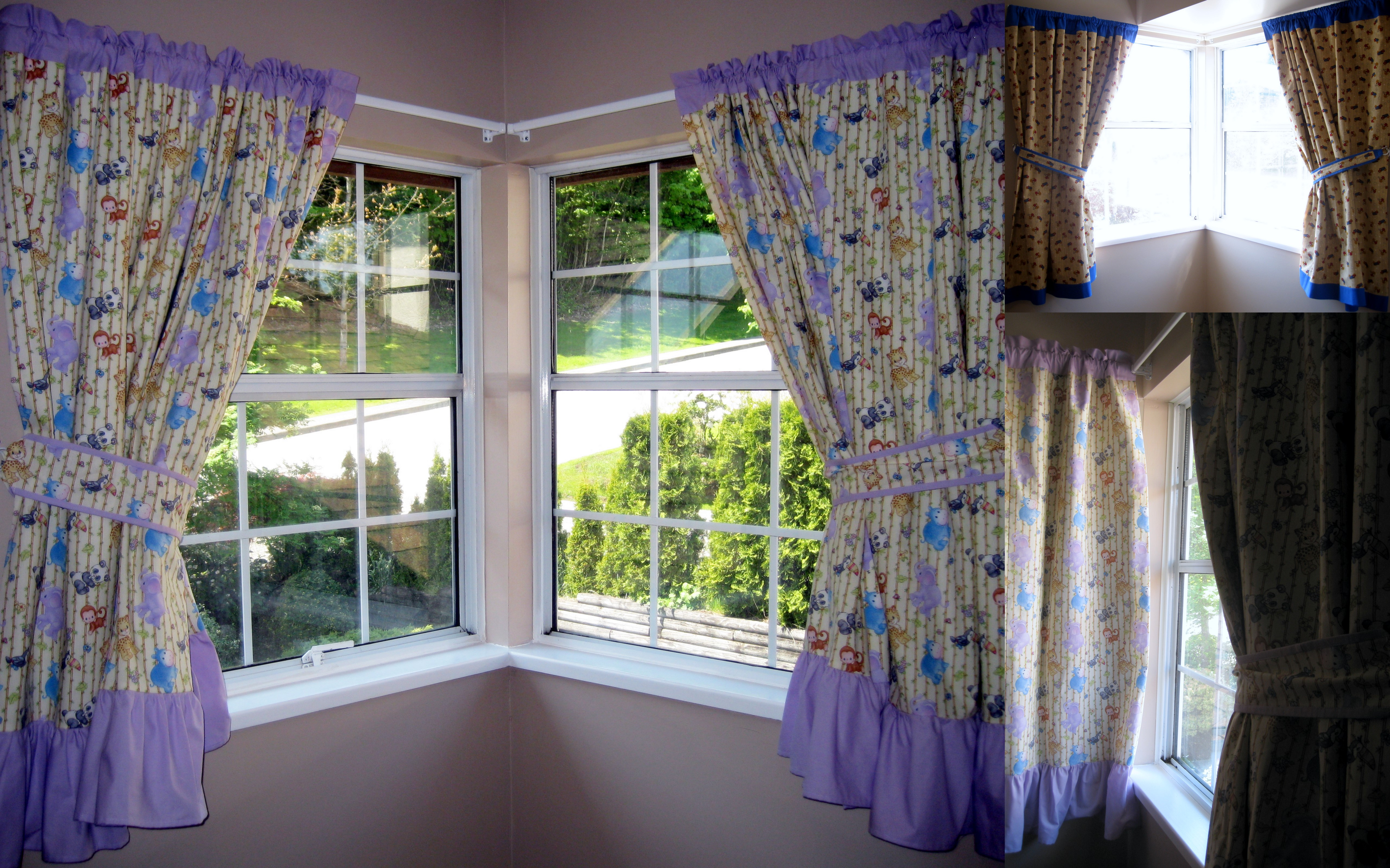 Bedroom window curtain designs - Corner Window Curtain Ideas Modern Curtains Dark Gold European Design Beautiful Bedroom